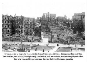 El Incendio de Santander, la ciudad en llamas, durante 2 días, el 15-16 Febrero 1941, aunque algunos rescoldos permanecieron encendidos durante 15 días.