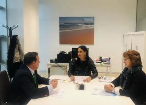 Odette Álvarez se ha reunido con representantes de la Asociación de Comerciantes del Casco Viejo de Santander para estudiar vías de colaboración.