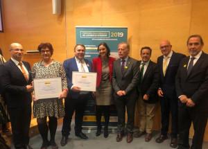 En Madrid con la Ministra Reyes Maroto en la entrega de los premios Nacionales de Comercio Interior de España