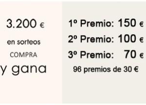 3.200 € en premios. Tu compra puede tener premio